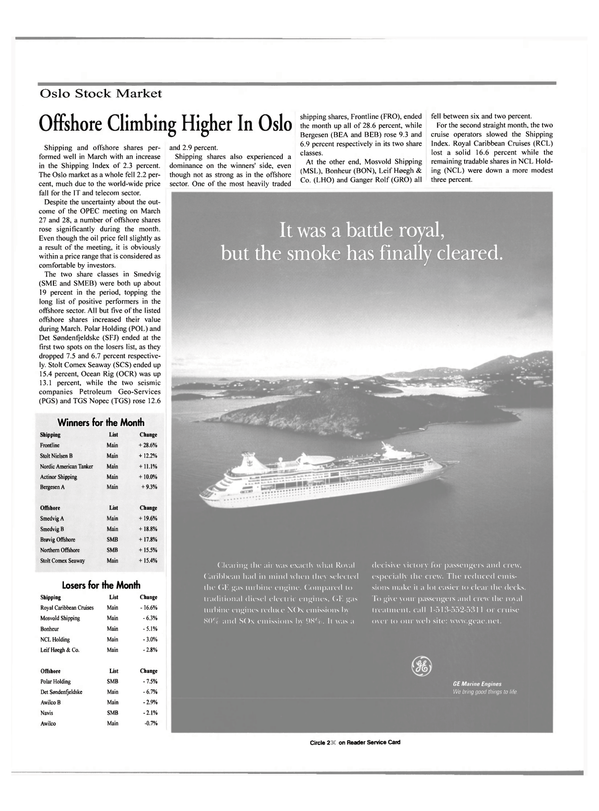 Maritime Reporter Magazine, page 7,  May 2000