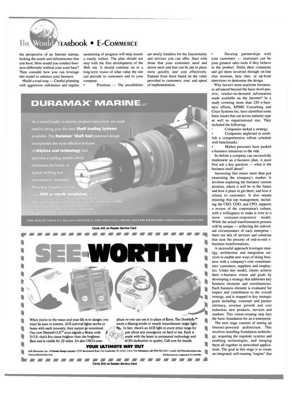 Maritime Reporter Magazine, page 42,  Jun 15, 2000