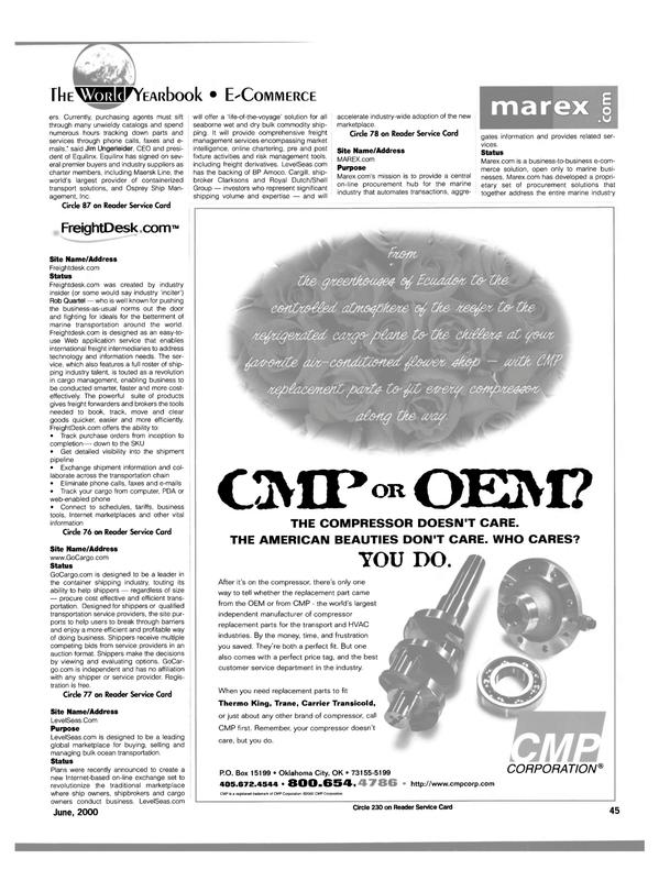 Maritime Reporter Magazine, page 49,  Jun 15, 2000 Rob Quartel