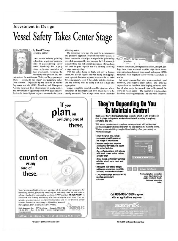 Maritime Reporter Magazine, page 8,  Jul 2000 Institute of Marine Engineers