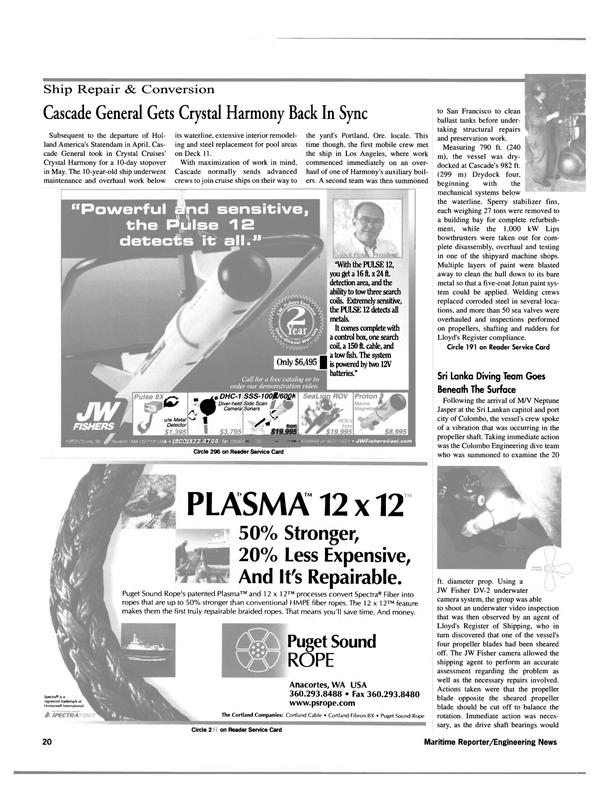 Maritime Reporter Magazine, page 20,  Jul 2000
