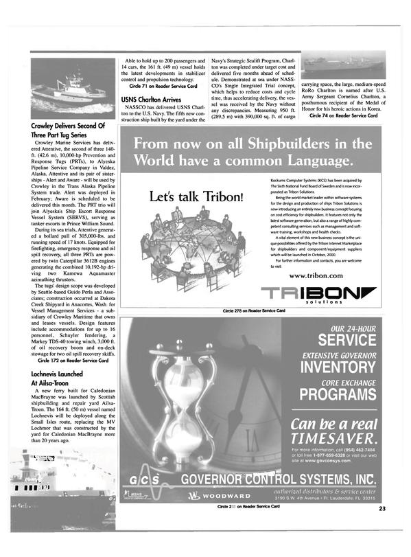 Maritime Reporter Magazine, page 23,  Jul 2000 Florida
