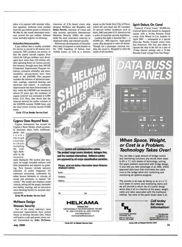 Maritime Reporter Magazine, page 31,  Jul 2000 Brian Parritt