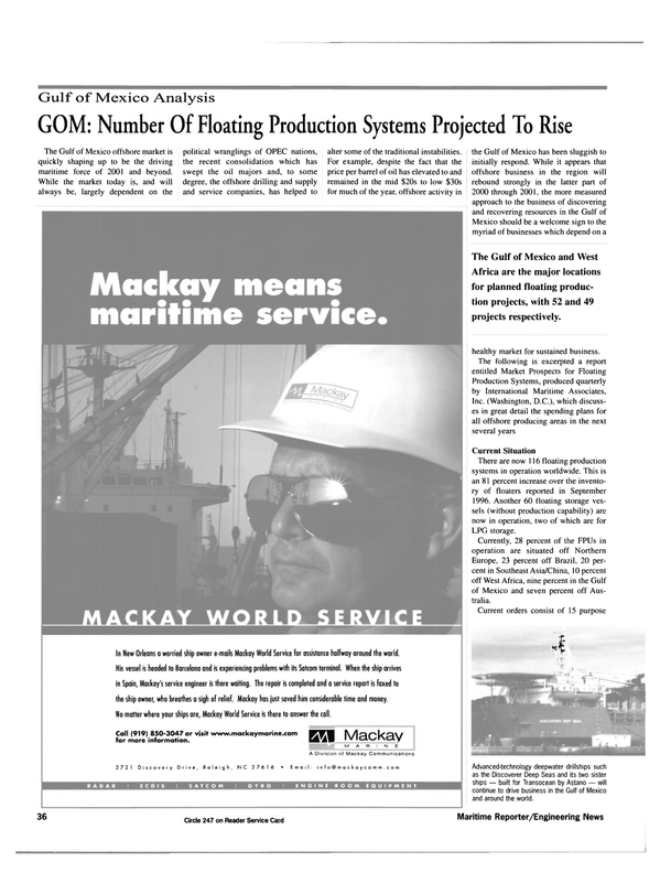 Maritime Reporter Magazine, page 36,  Jul 2000 Division of Mackay Communications