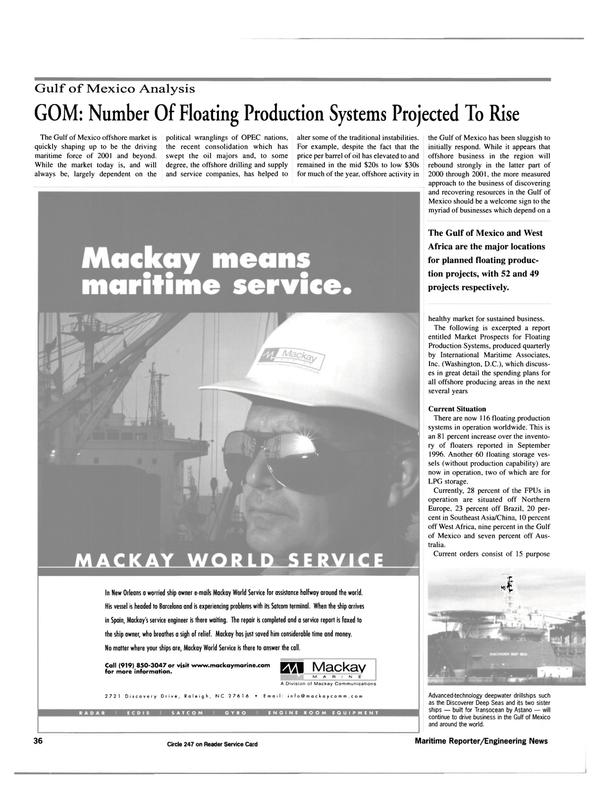 Maritime Reporter Magazine, page 36,  Jul 2000