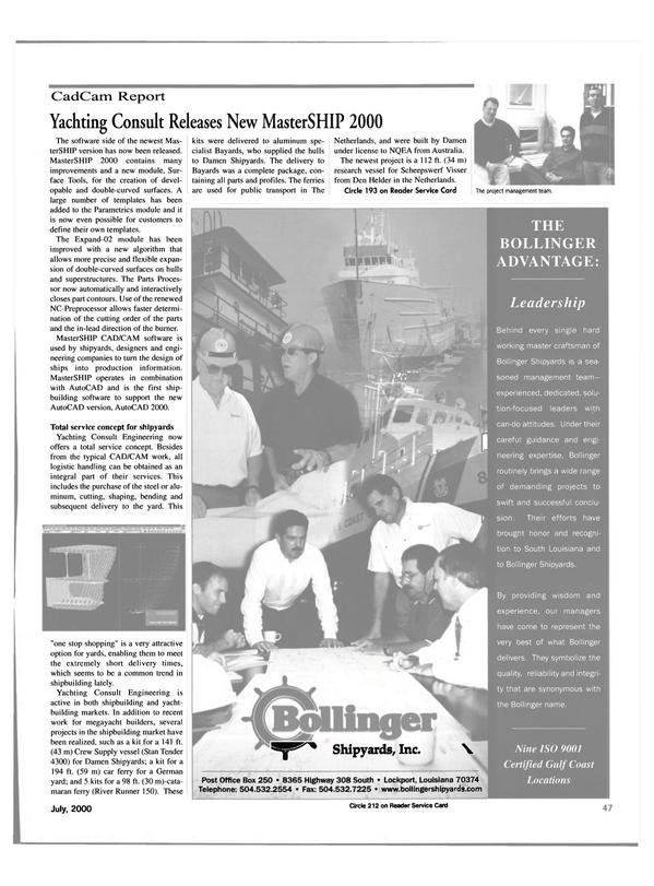 Maritime Reporter Magazine, page 47,  Jul 2000