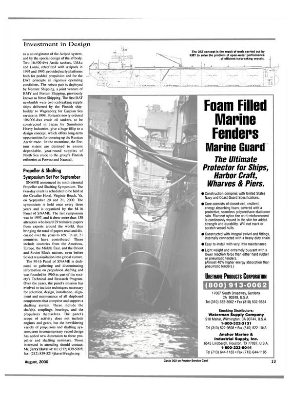 Maritime Reporter Magazine, page 13,  Aug 2000 Texas