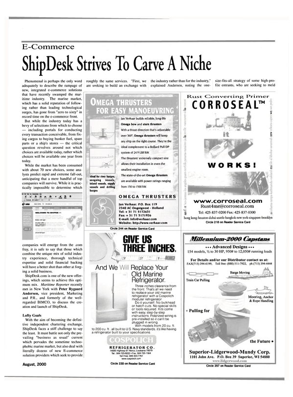 Maritime Reporter Magazine, page 15,  Aug 2000