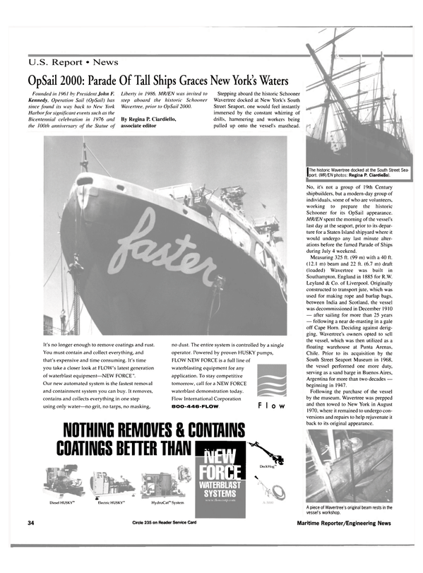 Maritime Reporter Magazine, page 34,  Aug 2000