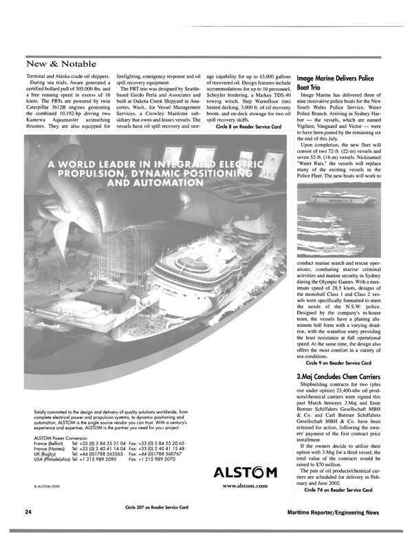 Maritime Reporter Magazine, page 24,  Sep 2000