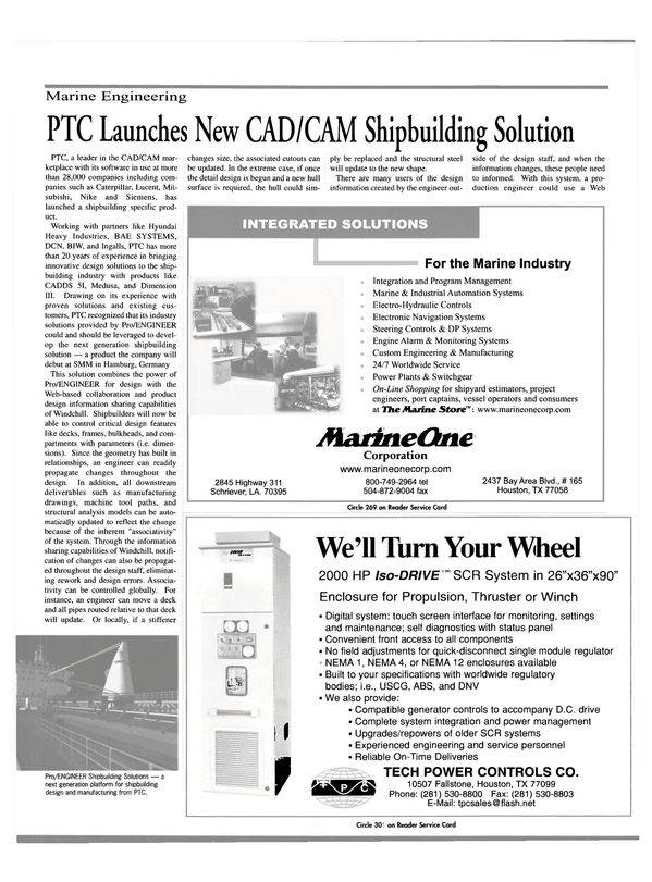 Maritime Reporter Magazine, page 25,  Sep 2000