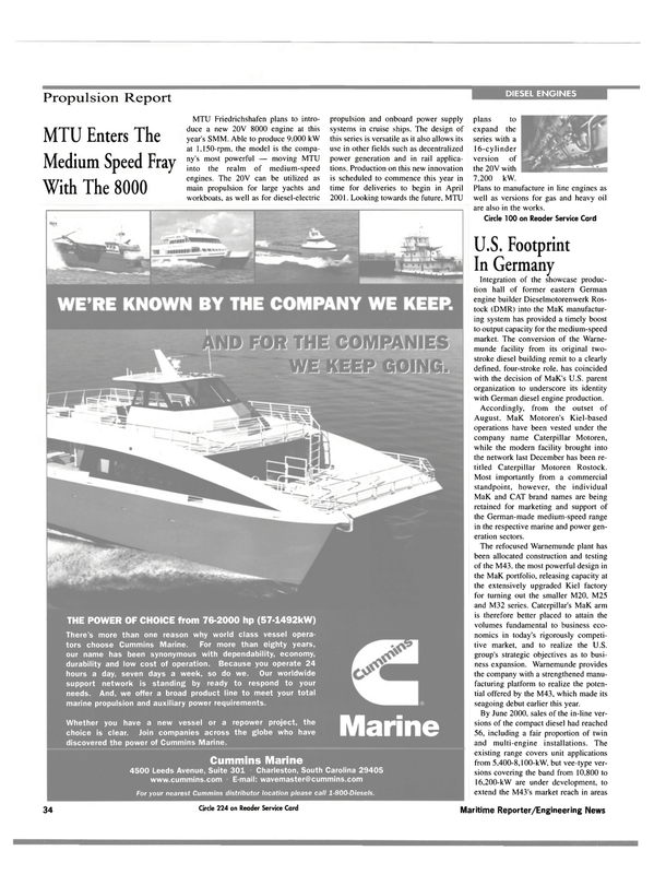Maritime Reporter Magazine, page 34,  Sep 2000