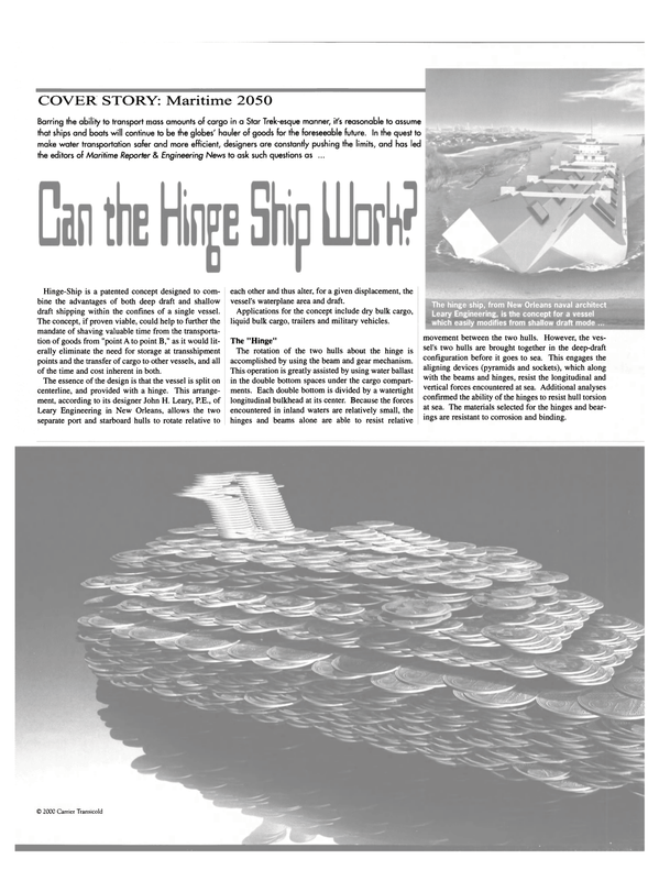 Maritime Reporter Magazine, page 40,  Sep 2000