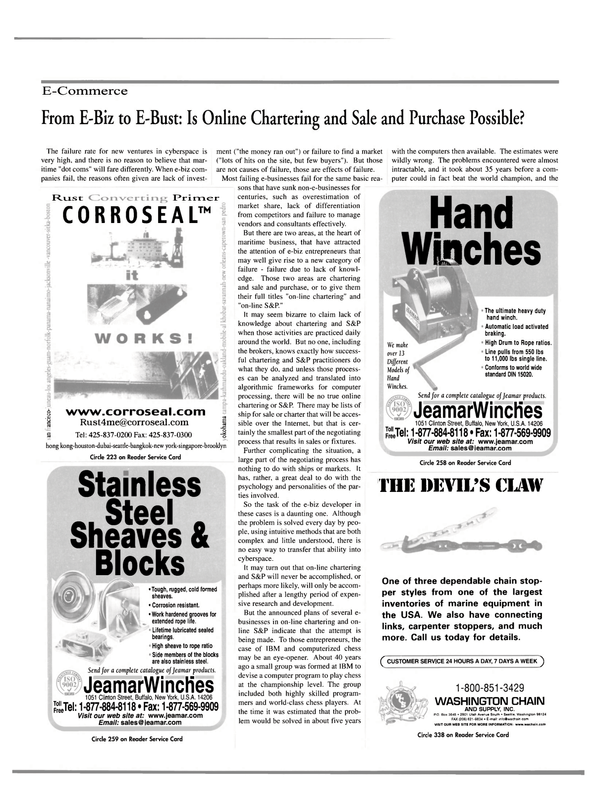 Maritime Reporter Magazine, page 15,  Oct 2000