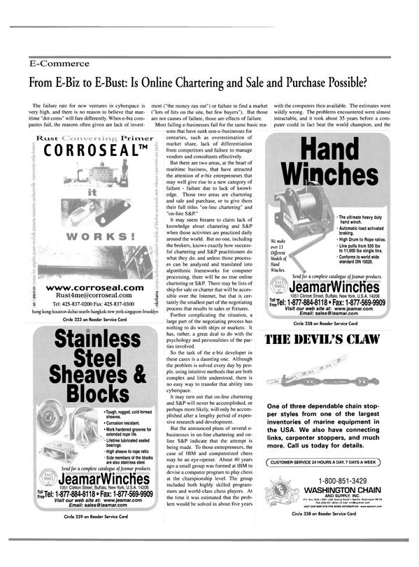 Maritime Reporter Magazine, page 15,  Oct 2000 marine equipment