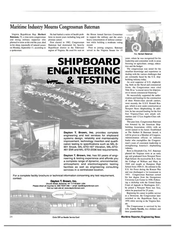 Maritime Reporter Magazine, page 24,  Oct 2000