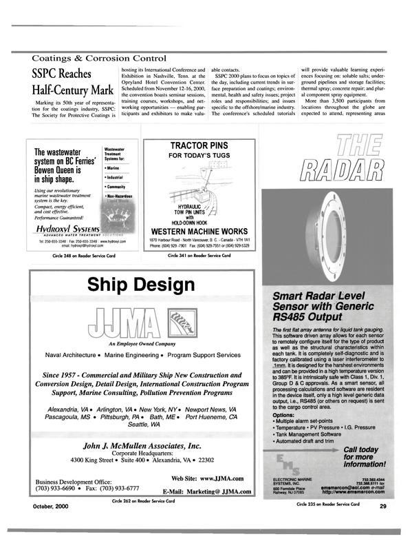 Maritime Reporter Magazine, page 29,  Oct 2000