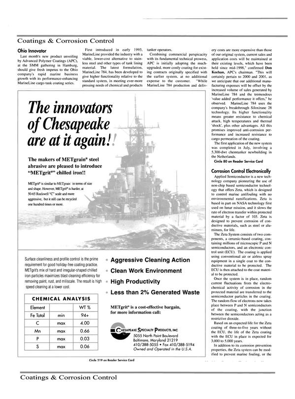 Maritime Reporter Magazine, page 34,  Oct 2000