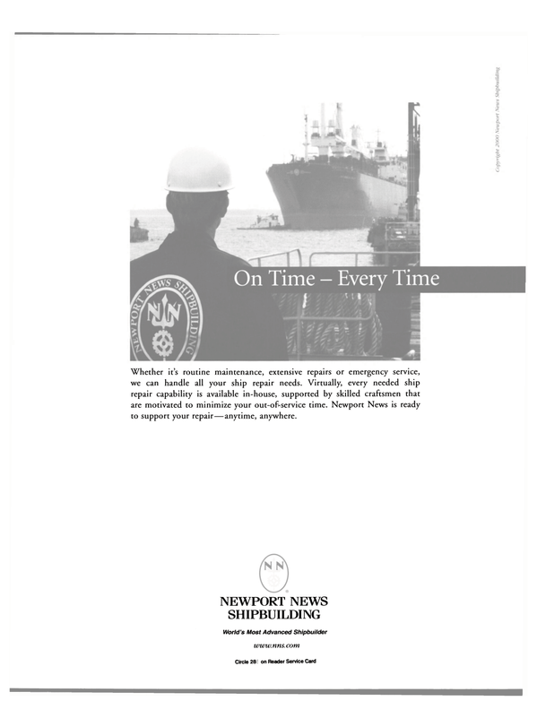 Maritime Reporter Magazine, page 47,  Oct 2000