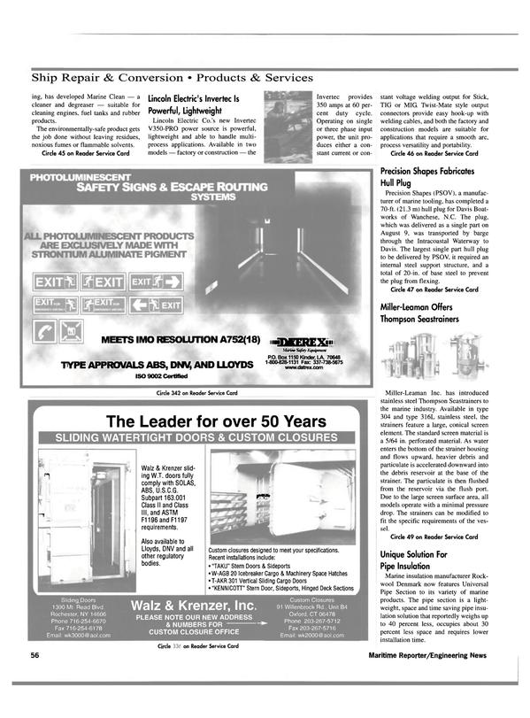 Maritime Reporter Magazine, page 58,  Oct 2000 Louisiana