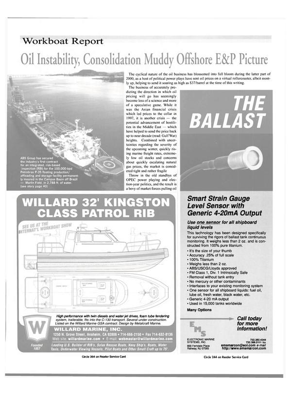 Maritime Reporter Magazine, page 29,  Nov 2000