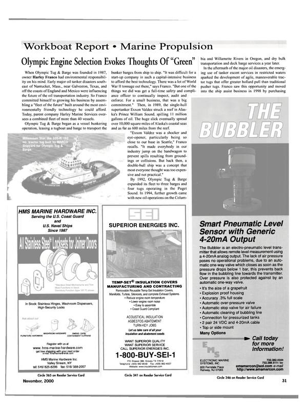 Maritime Reporter Magazine, page 33,  Nov 2000