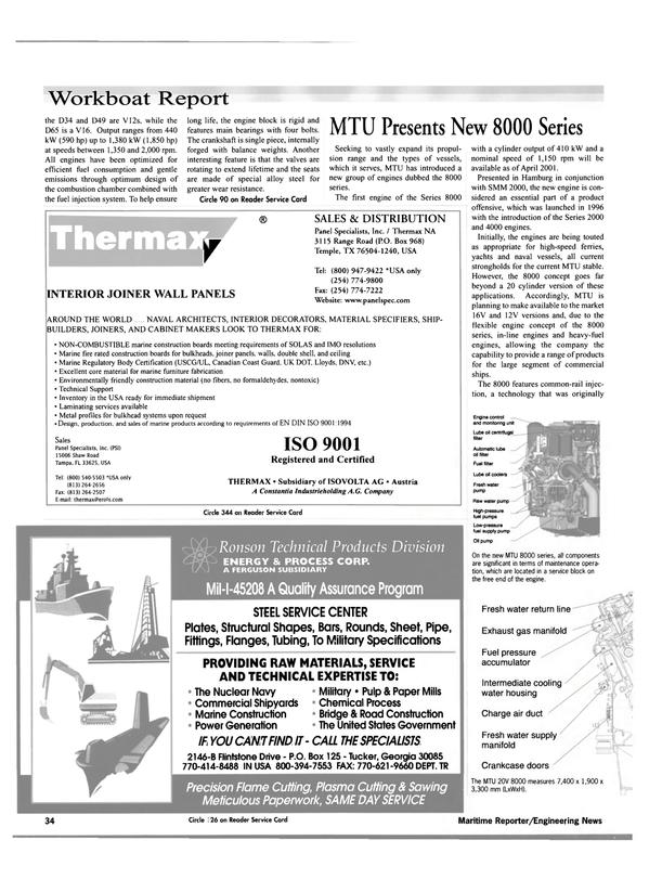 Maritime Reporter Magazine, page 36,  Nov 2000