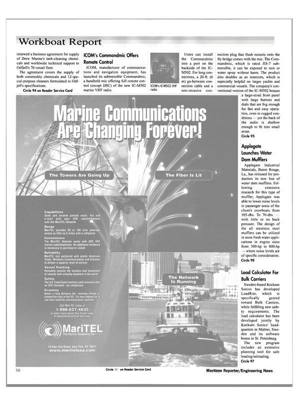 Maritime Reporter Magazine, page 58,  Nov 2000