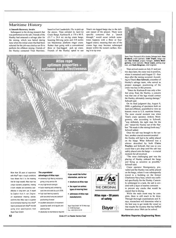 Maritime Reporter Magazine, page 64,  Nov 2000