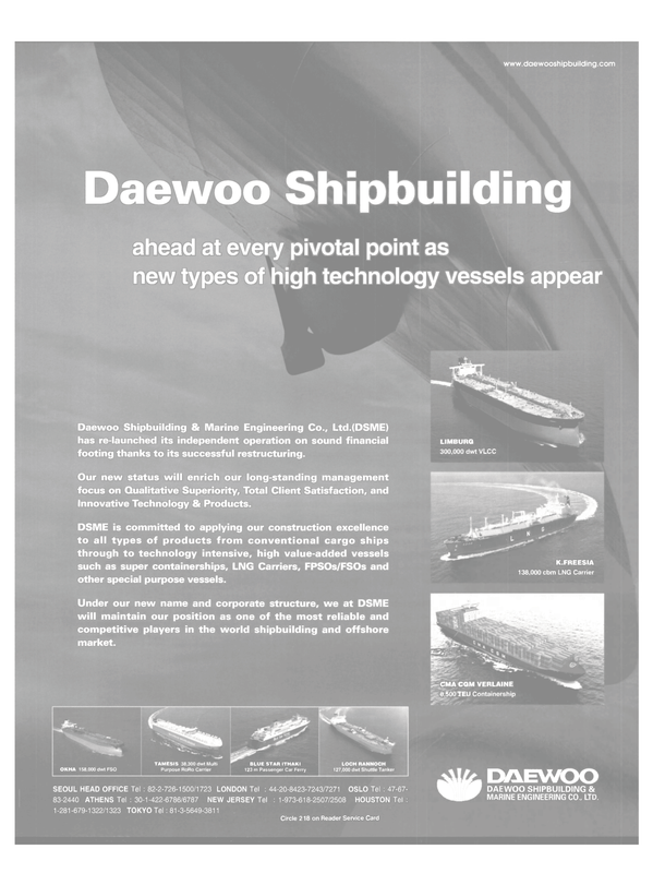 Maritime Reporter Magazine, page 8,  Dec 2000 Shipbuilding & Marine Engineering Co. Ltd.