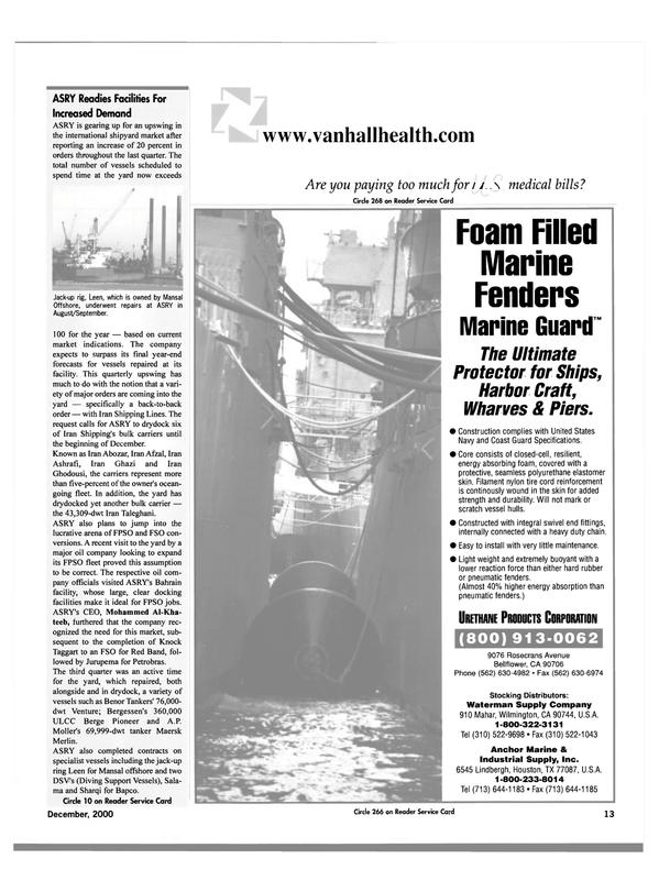 Maritime Reporter Magazine, page 16,  Dec 2000 Mohammed Al-Kha