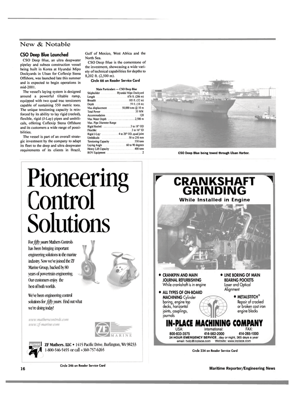 Maritime Reporter Magazine, page 19,  Dec 2000