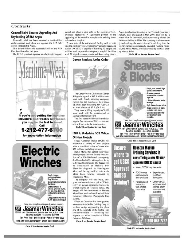 Maritime Reporter Magazine, page 23,  Dec 2000