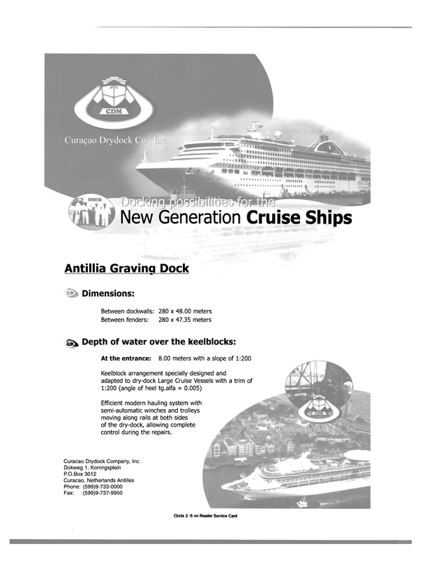 Maritime Reporter Magazine, page 27,  Dec 2000 CURACAO DRYDOCK COMPANY INC.