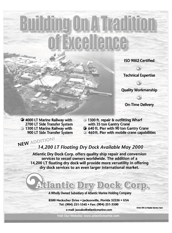 Maritime Reporter Magazine, page 40,  Dec 2000 conversion services
