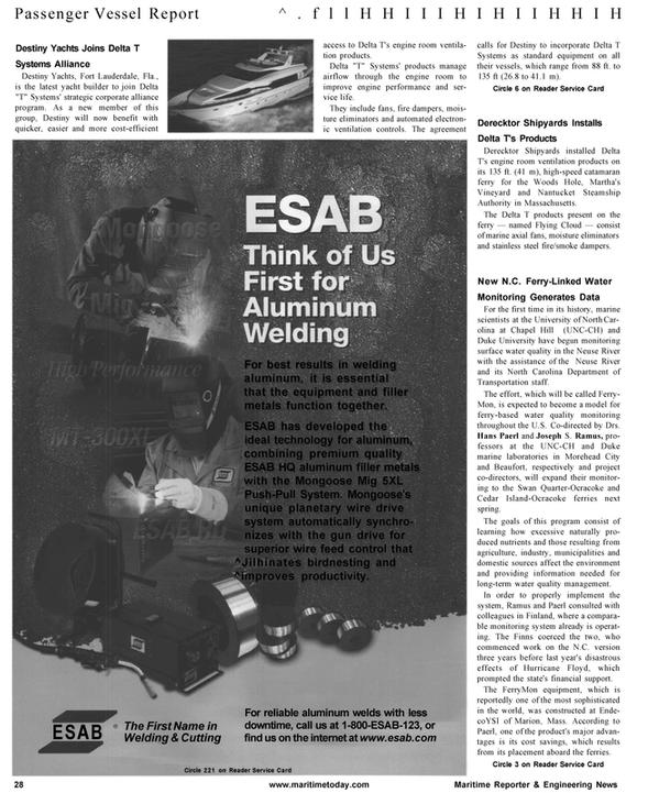 Maritime Reporter Magazine, page 28,  Jan 2001 Delta
