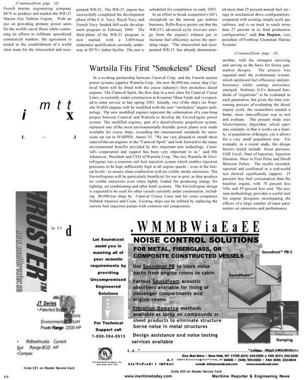 Maritime Reporter Magazine, page 50,  Jan 2001 Ole Johansson