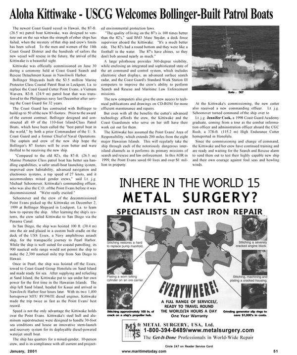 Maritime Reporter Magazine, page 51,  Jan 2001 Marc Snyder