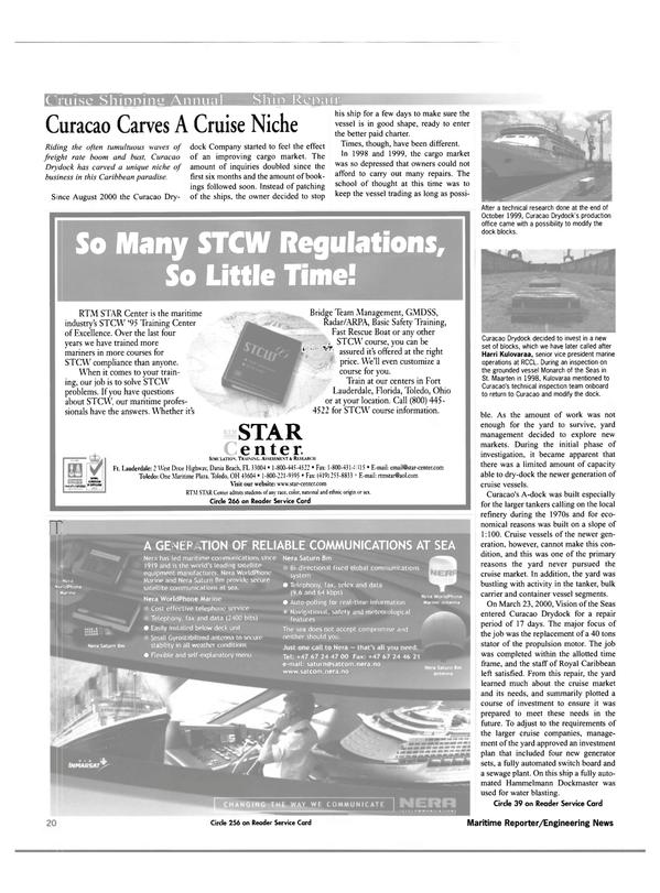 Maritime Reporter Magazine, page 20,  Feb 2001