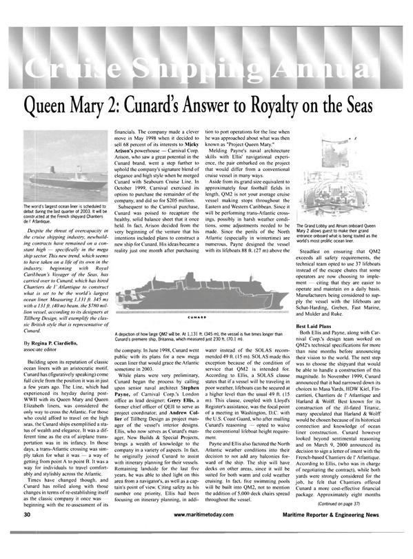 Maritime Reporter Magazine, page 30,  Feb 2001