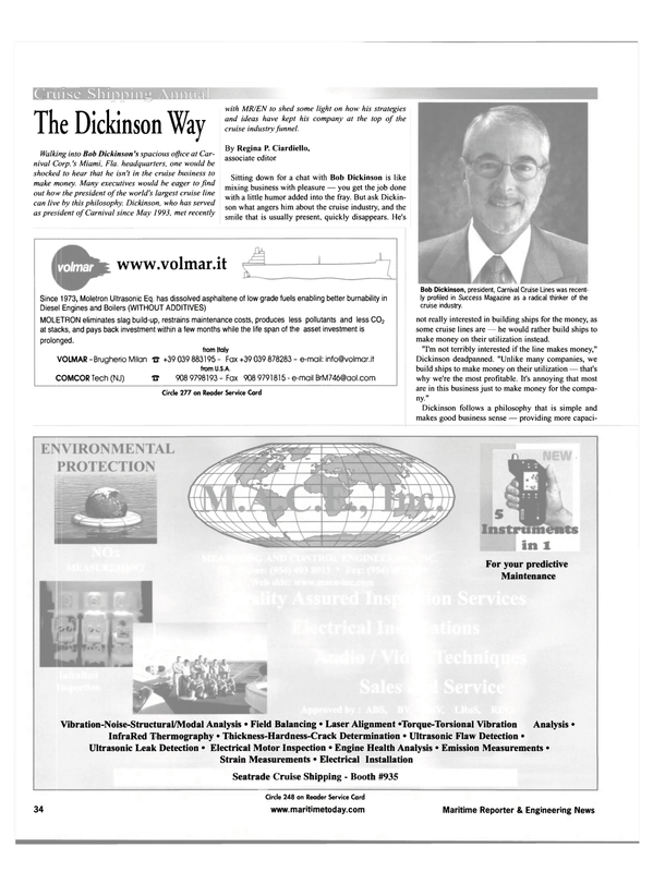 Maritime Reporter Magazine, page 34,  Feb 2001 Florida