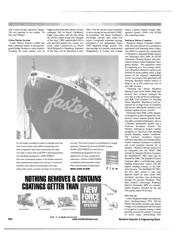 Maritime Reporter Magazine, page 40,  Feb 2001 NOTHING REMOVES & CONTAINS COATINGS GETTER THAN NEW FORCE