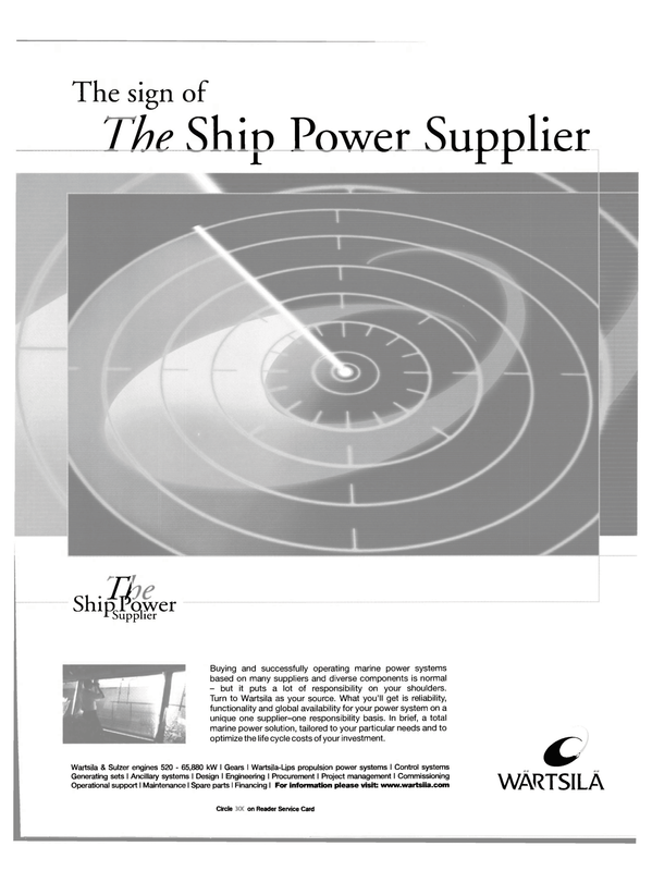 Maritime Reporter Magazine, page 49,  Feb 2001 propulsion power systems