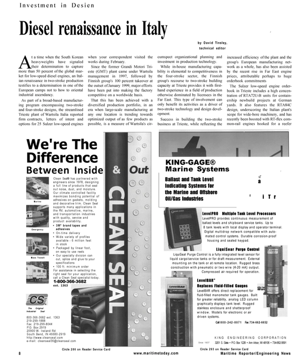 Maritime Reporter Magazine, page 8,  Mar 2001 Indiana