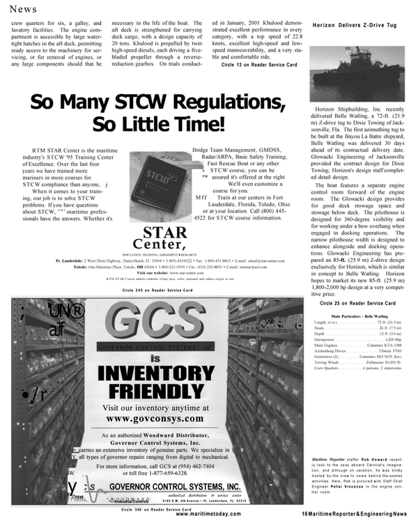 Maritime Reporter Magazine, page 14,  Mar 2001 United Nations