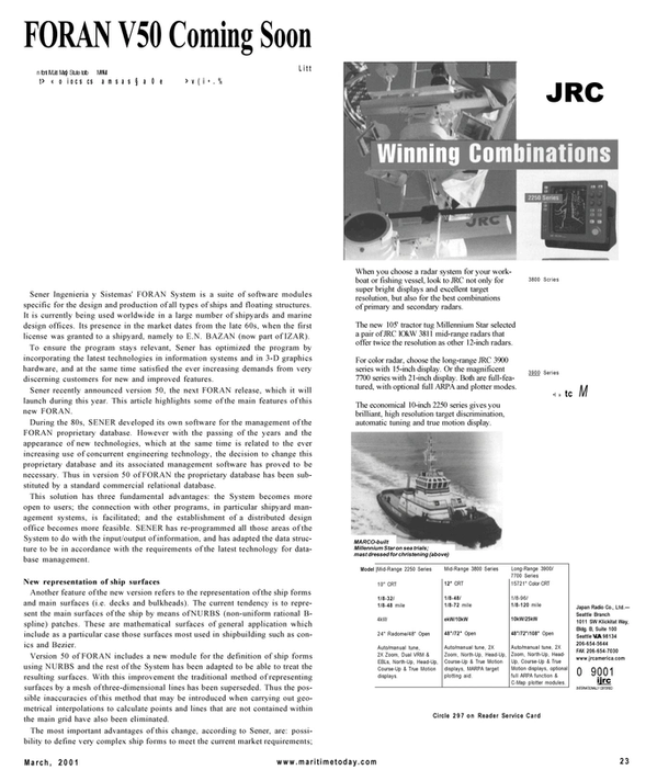 Maritime Reporter Magazine, page 23,  Mar 2001