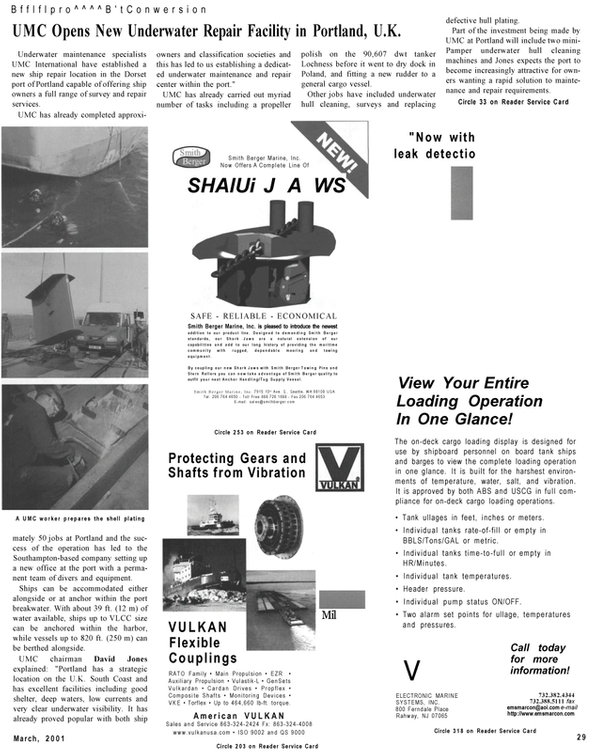 Maritime Reporter Magazine, page 29,  Mar 2001
