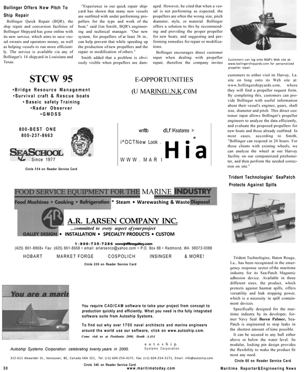 Maritime Reporter Magazine, page 30,  Mar 2001