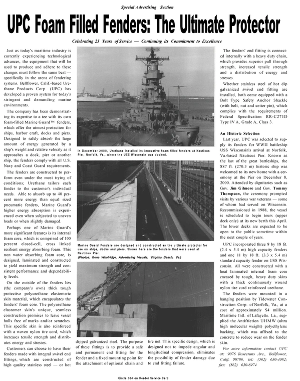 Maritime Reporter Magazine, page 36,  Mar 2001