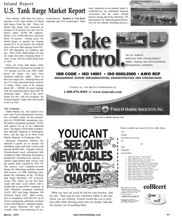 Maritime Reporter Magazine, page 41,  Mar 2001